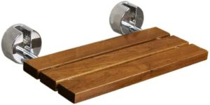 Clevr 20inches Teak Wood Modern Folding Shower Seat Bench reviews and user guide
