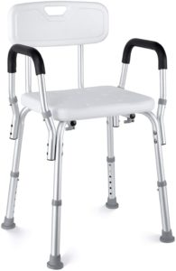 HAIRBY Shower Chair with Arms and Back  reviews and user guide