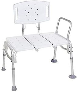 HEALTHLINE Transfer Bench Heavy Duty Bariatric Tub Transfer Bench with Back reviews and user guide