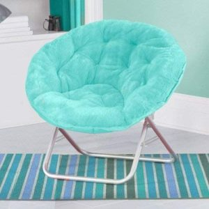 Luxury Padded Faux-Fur Saucer Chair Reviews