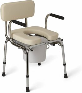 Medline Heavy Duty Padded Drop-Arm Commode reviews and user guide