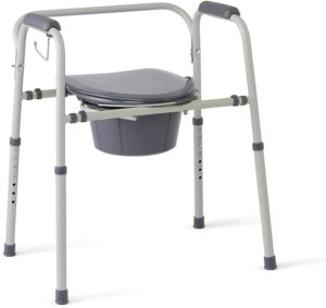 Medline Steel 3-in-1Bedside Commode reviews and user guide